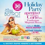 Holiday Party – Bistrot della Villa –  30 Luglio 2017!