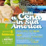 Tutti a cena in Sud America! – giovedì 8 febbraio